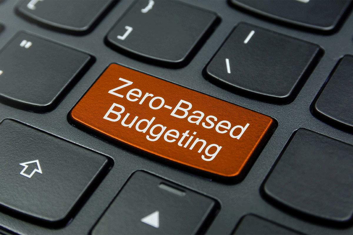 Zero-Based Budgeting button on keyboard