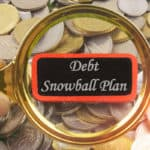 Debt snowball plan under magnifying glass