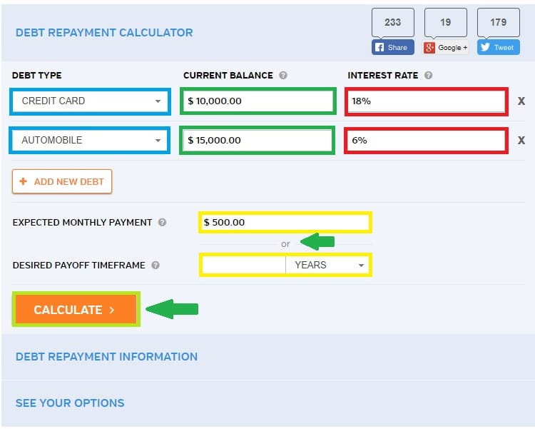 How to Use a Debt Payoff Calculator
