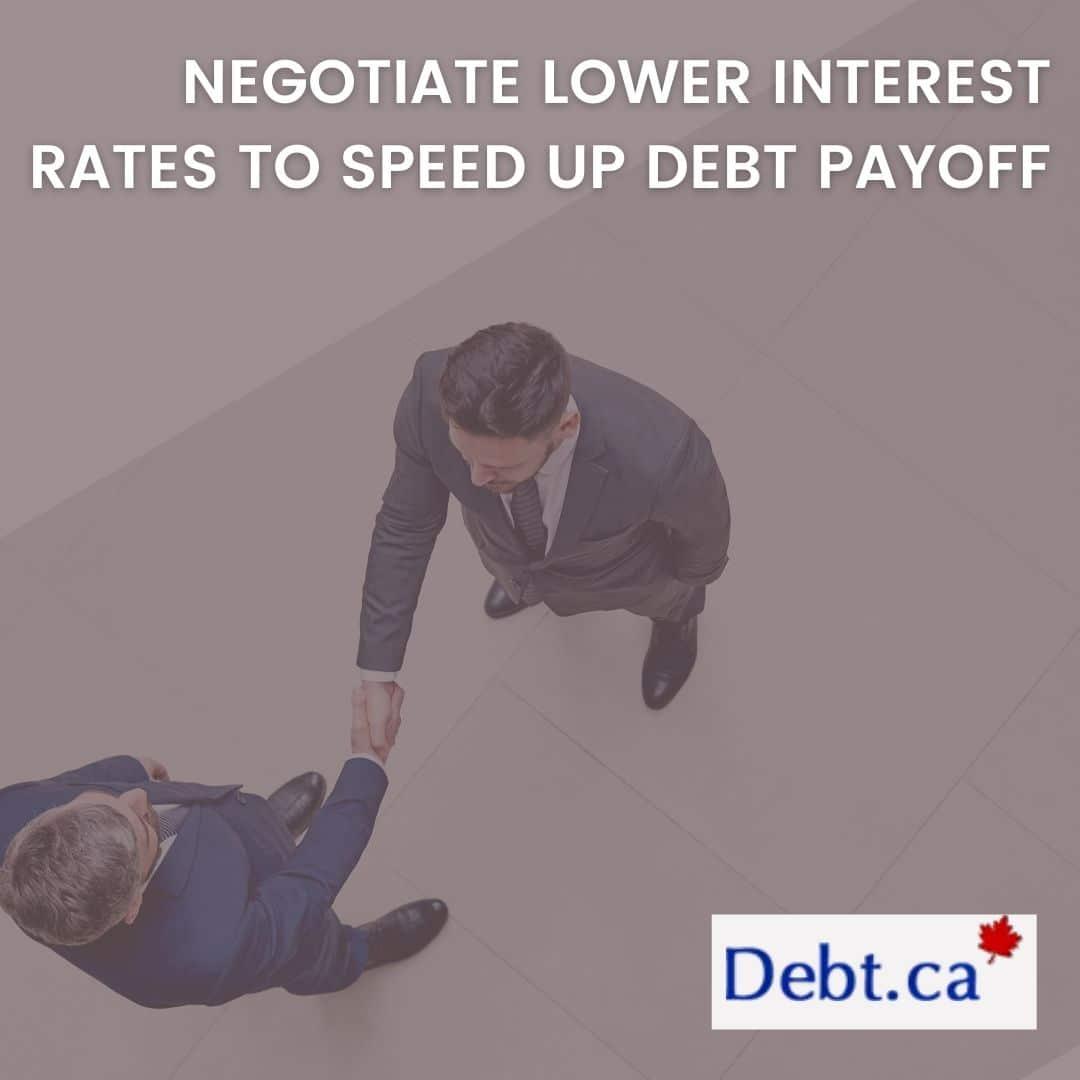 Men shaking hands after negotiate lower interest rates