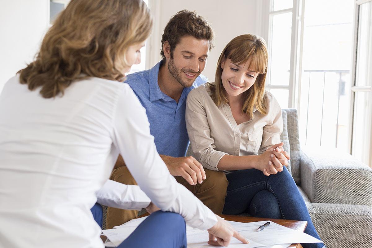 Couple Choosing a Mortgage