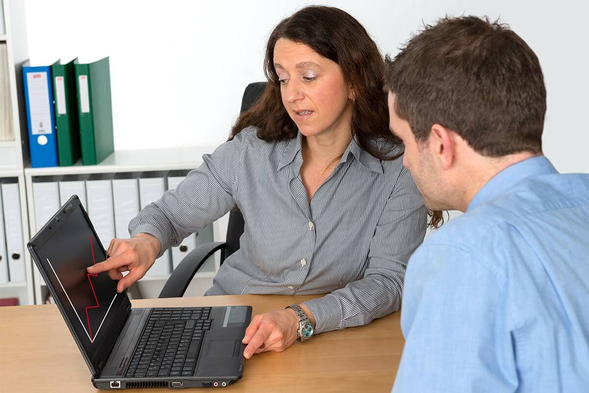 Interviewing credit counsellor