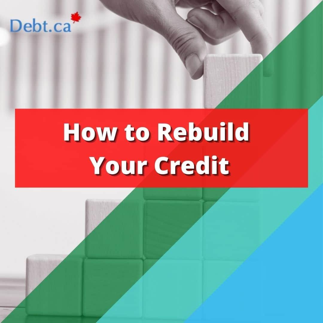 Upward blocks indicating how to rebuild credit