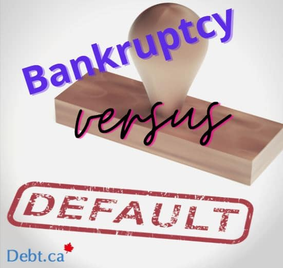 the difference between bankruptcy and default