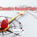 An arrow pointing to debt