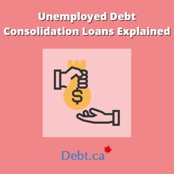 person handing out unemployed debt consolidation loans