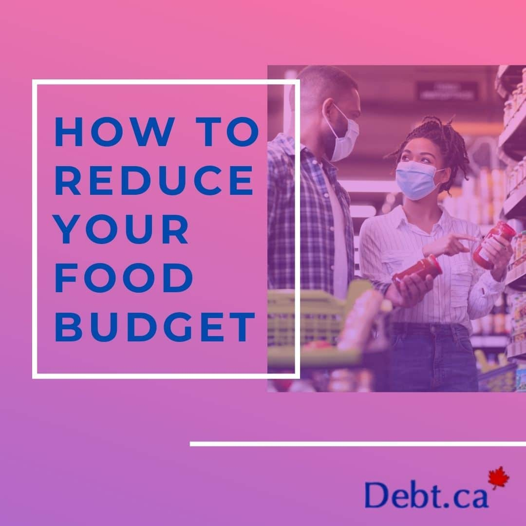 A couple shopping and reducing their food budget